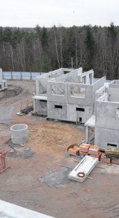 Полностью собран цокольный этаж  корпуса №7. Начались работы по  монтажу первого этажа.