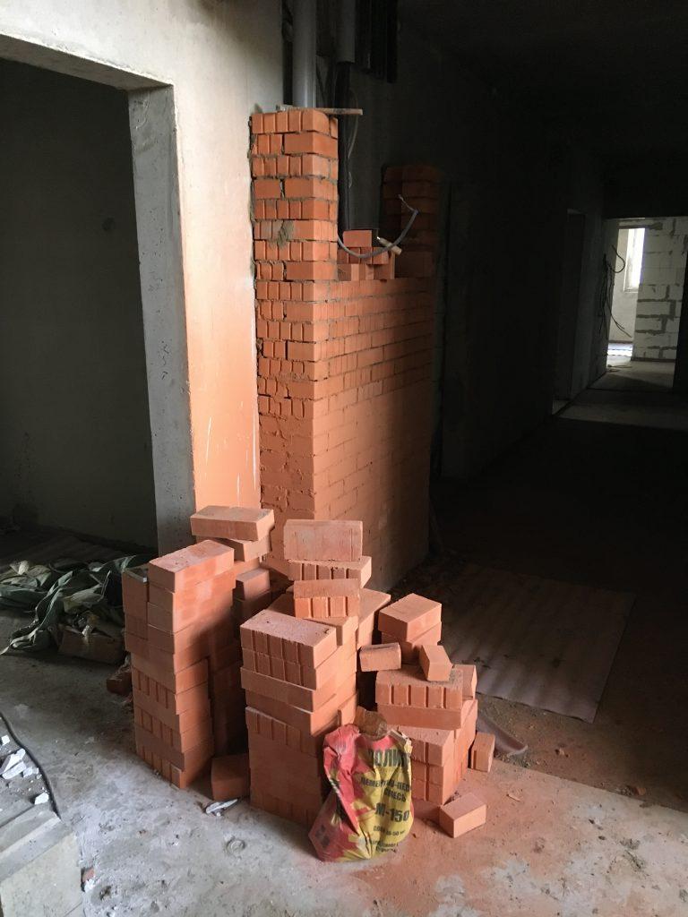 Подготовка к внутренней отделке этажей в корпусах 1 и 2