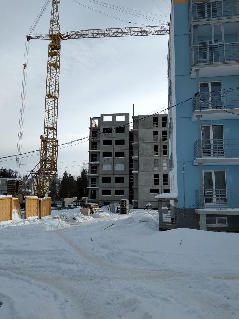Идет монтаж 7-го этажа в корпусе №7