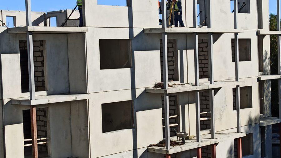 Монтаж конструкций 4-го этажа. 5 корпус